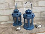 Підсвічник - ліхтар металевий, в-16 см, 120\140 (цена за 1шт. + 20 гр.), фото 5