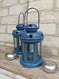 Підсвічник - ліхтар металевий, в-16 см, 120\140 (цена за 1шт. + 20 гр.), фото 4