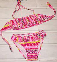 Купальник Teres BH-857 для девочки раздельный розовый Размер 4-12