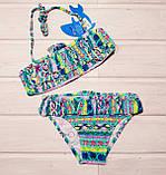 Купальник Teres BH-857 для девочки раздельный бирюзовый Размер 4-12, фото 2