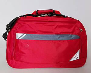 Дорожная сумка саквояж красного цвета с одним центральным отделением (55 см)