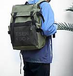 Вместительный мужской рюкзак, повседневный, городской, для ноутбука 15,6, спортивный хаки, фото 6
