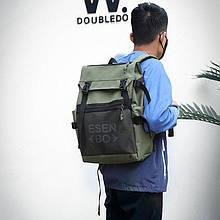 Вместительный мужской рюкзак, повседневный, городской, для ноутбука 15,6, спортивный хаки