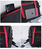 Вместительный мужской рюкзак, повседневный, городской, для ноутбука 15,6, спортивный хаки, фото 9