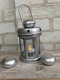 Підсвічник - ліхтар металевий, в-16 см, 120\140 (цена за 1шт. + 20 гр.), фото 10