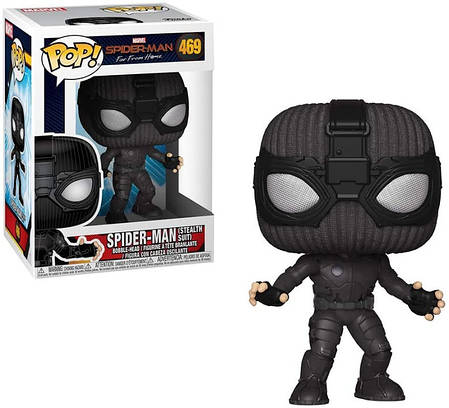 Фігурка Funko Pop! Spider-Man. Far From Home. Spider-Man (Stealth Suit) #469/ Людина-павук, фото 2
