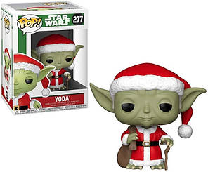 Фігурка Funko Pop! Star Wars. Yoda Christmas Theme #277/ Зоряні Війни. Йода новорічний, фото 2