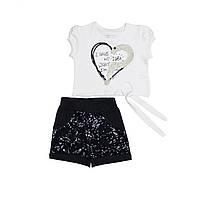 Детские шорты и футболка для девочки, рост 98, 104,116 см, размер 3,4,6 лет.