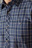 Мужская рубашка в клетку с длинным рукавом Finn Flare A18-22028-101 синяя, фото 6