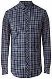 Мужская рубашка в клетку с длинным рукавом Finn Flare A18-22028-101 синяя, фото 7