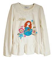 Блузка детская хлопковая белая с вышивкой Disney Store (Размер 140 (9-10 лет))