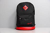 Рюкзак городской мужской, женский, для ноутбука Nike (Найк) спортивный черный-красный