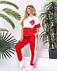 Летний спортивный костюм женский PY/-1017/1 - Красный