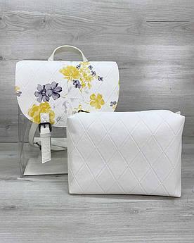 Стильный женский силиконовый рюкзак