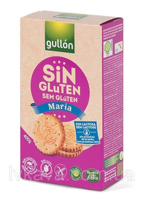 Печенье без глютена и лактозы  Gullon Maria , 400 гр