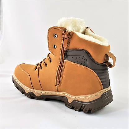 Ботинки ЗИМНИЕ Мужские Кроссовки МЕХ Рыжие Прошиты Рыжие (размеры: 43) - 333, фото 3