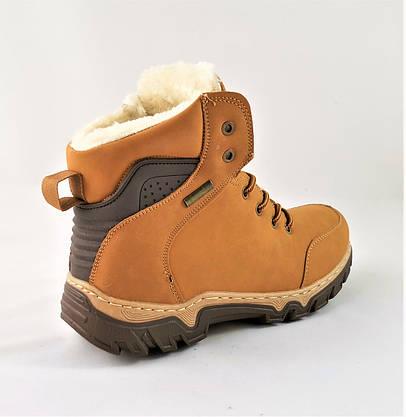 Ботинки ЗИМНИЕ Мужские Кроссовки МЕХ Рыжие Прошиты Рыжие (размеры: 43) - 333, фото 2