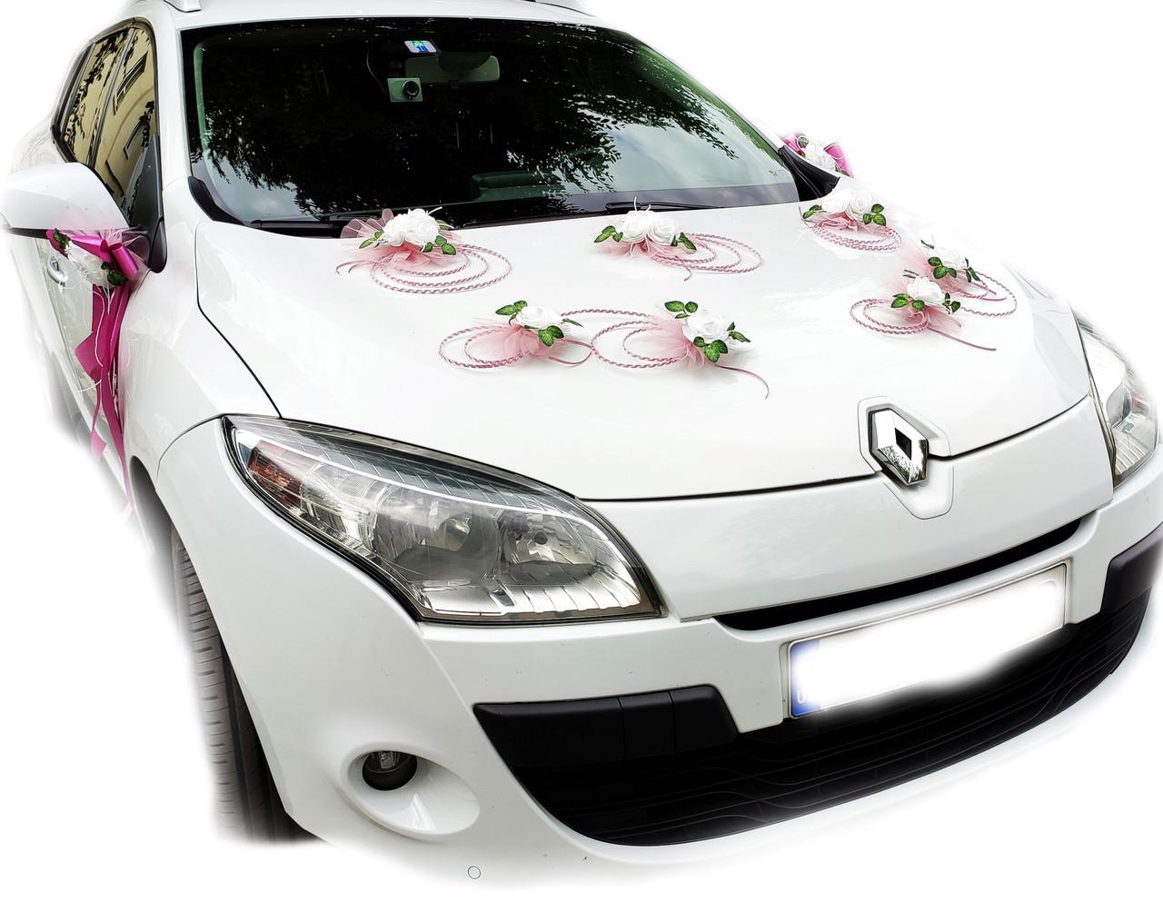 Украшения на свадебную машину Планета роз. Цвет пудровый.