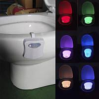 СветоДиодная Подсветка для унитаза крышка лед Led toilet Light светильник с датчикомДвижения крышки Illumibowl