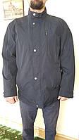 Мужская куртка ветровка летняя весна осень тонкая катоновая длинная демисезонная Катон длинная классика черная