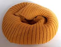 Хомут баф на шею теплый двойной 20х21 см оранжевый