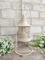 Подсвечник подвесной белого цвета, металл, h-34 см. 320/280 (цена за 1 шт. + 40гр.), фото 1