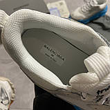 Женские кроссовки Balenciaga Triple S Clear Sole White Blue кроссовки баленсиага трипл с, кроссовки баленсияга, фото 7
