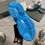 Женские кроссовки Balenciaga Triple S Clear Sole White Blue кроссовки баленсиага трипл с, кроссовки баленсияга, фото 8