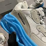 Женские кроссовки Balenciaga Triple S Clear Sole White Blue кроссовки баленсиага трипл с, кроссовки баленсияга, фото 5