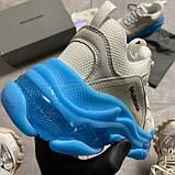 Женские кроссовки Balenciaga Triple S Clear Sole White Blue кроссовки баленсиага трипл с, кроссовки баленсияга, фото 6