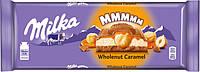 Шоколад Milka с цельным орехом и карамелью 300 г