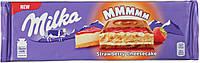 Шоколад Milka с чизкейком, клубникой и печеньем 300 г