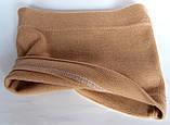Хомут баф на шею одинарный 21х23 см песочный, фото 2