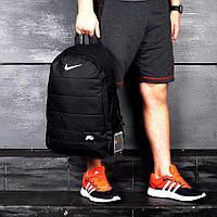 Спортивный городской рюкзак Nike Air Black модный черный мужской портфель Найк на каждый день сумка наплічник
