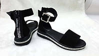 Модные босоножки белые и черные женские Ko0120