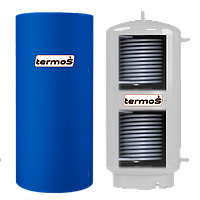 Буферная емкость из нержавейки TERMO-S TA-500L два теплообменника, фото 1