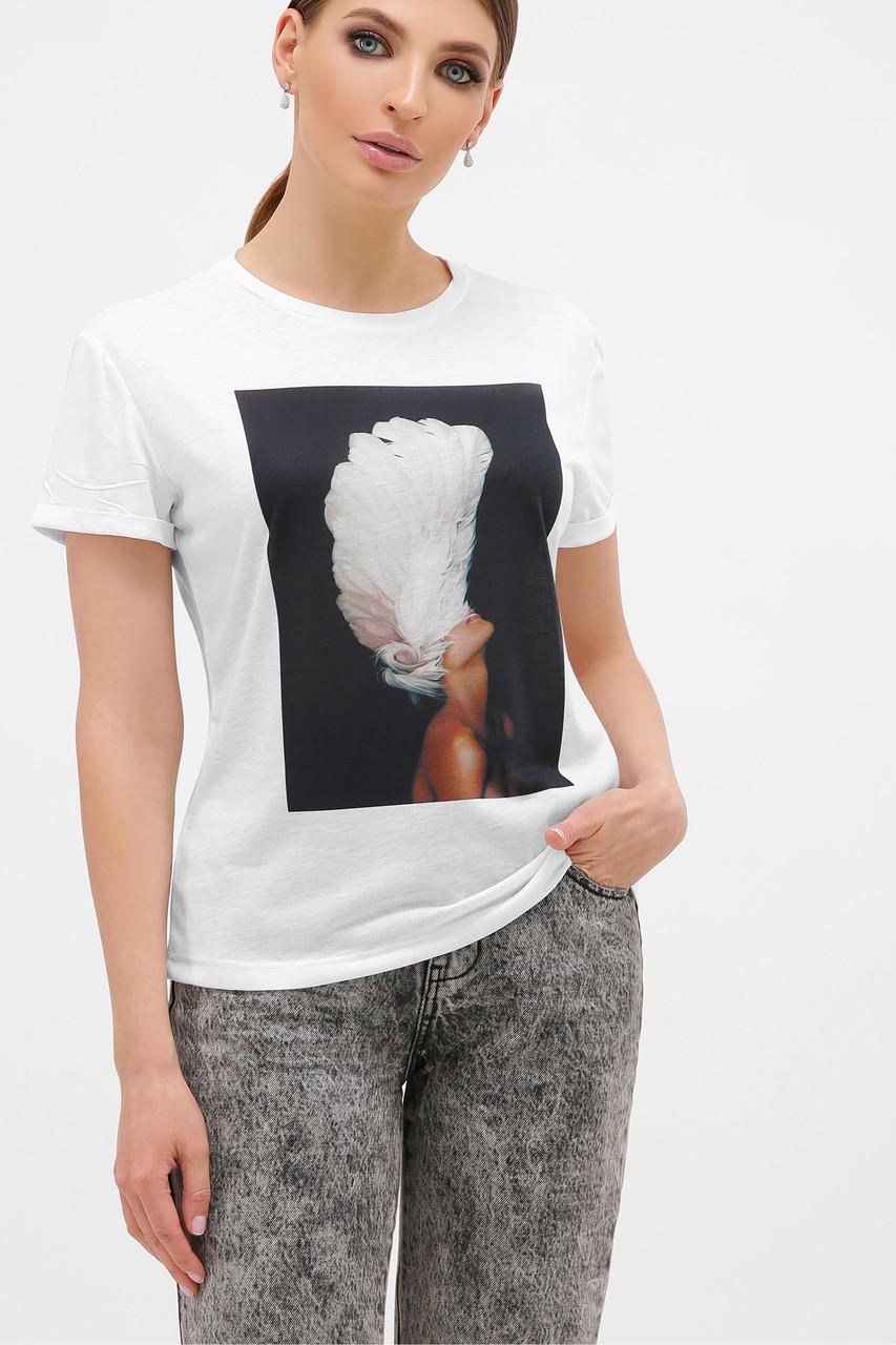 Жіноча футболка з пером