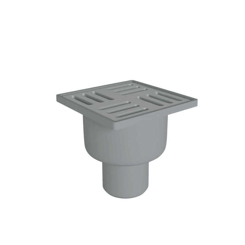Трап сухой вертикальный выпуск 50 мм с нержавеющей решеткой 10x10 см Ани Пласт TQ5202