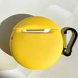 Чохол силіконовий для бездротових навушників Apple AirPods 2 M&m's, Жовтий, фото 3