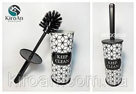 """Ершик для унитаза с рисунком """"Keep clean"""" Elif Plastik, высота 37 см"""