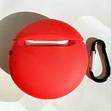 Чохол силіконовий для бездротових навушників Apple AirPods 2 M&m's, Червоний, фото 3
