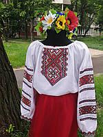 Вышиванка для девочки полотно 2002008Э-152, машинная вышивка Элит-2