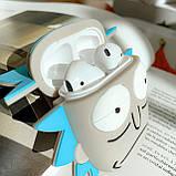 Чехол силиконовый для беспроводных наушников Apple AirPods 2 Rick and Morty, серо-голубой, фото 2