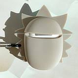 Чехол силиконовый для беспроводных наушников Apple AirPods 2 Rick and Morty, серо-голубой, фото 3