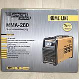 Сварочный аппарат инверторный Kaiser MMA-280 HOME LINE (Дисплей, кейс), фото 2