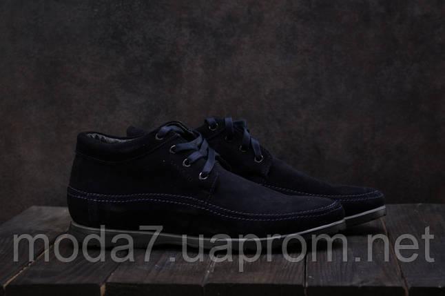 Мужские ботинки замшевые зимние синие Vankristi 927, фото 2