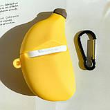 Чохол силіконовий для бездротових навушників Apple AirPods 2 Банан, Жовтий, фото 3