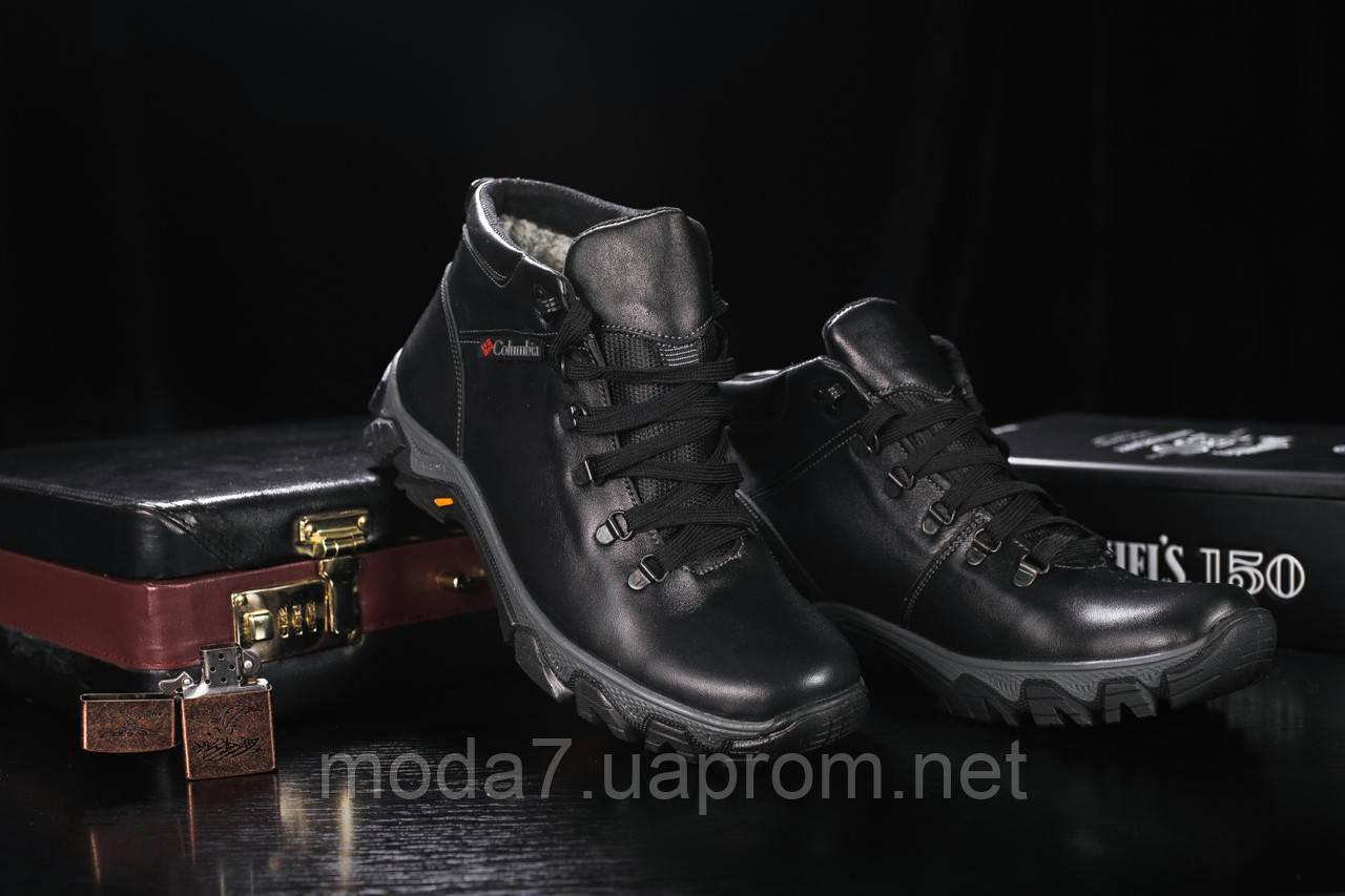 Мужские ботинки кожаные зимние черные Twics К2