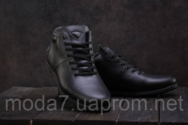 Мужские ботинки кожаные зимние черные Milord Olimp, фото 2