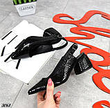 Шикарные босоножки на каблуке, фото 3